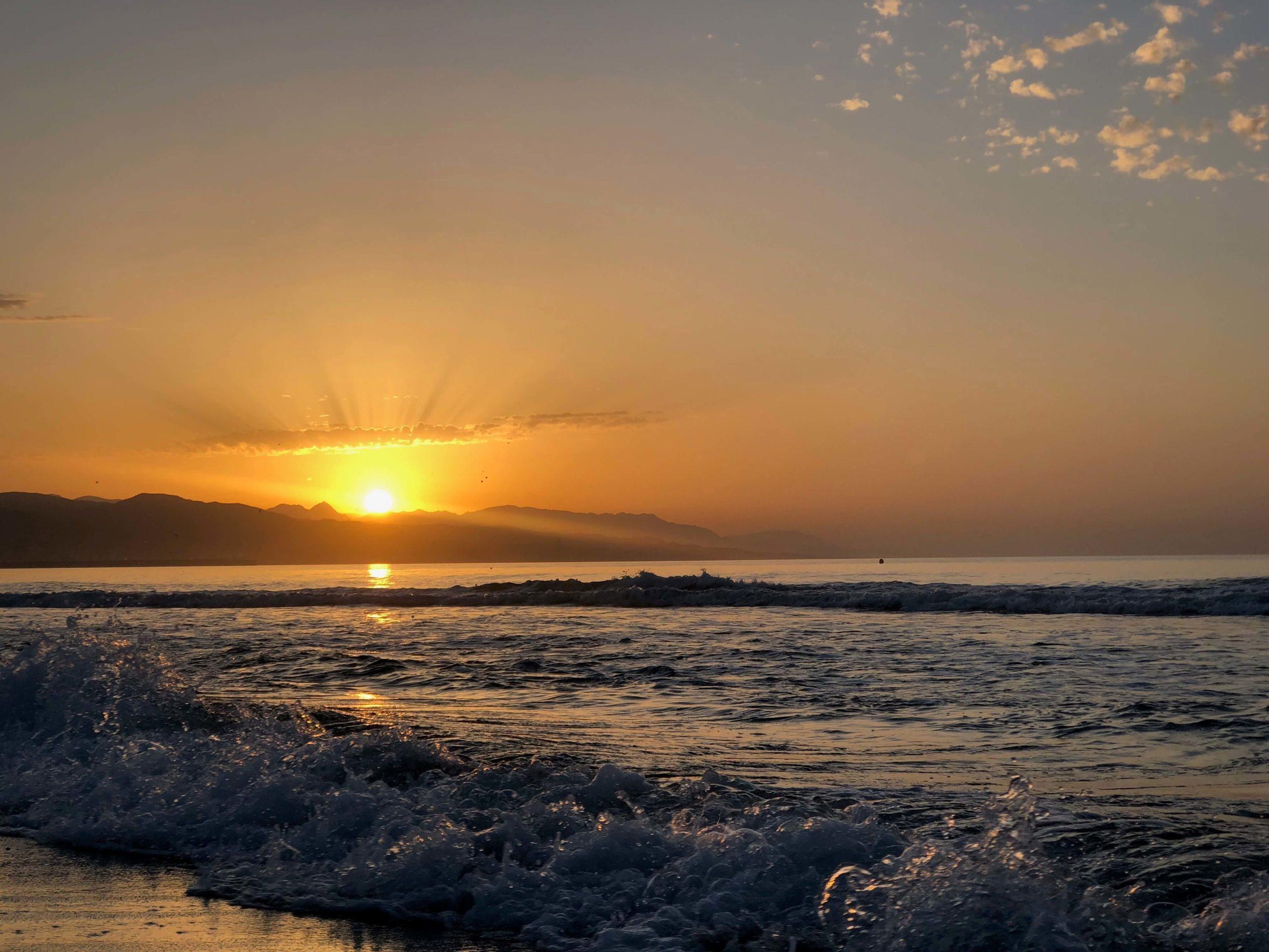 Los amaneceres en Málaga son espectaculares y te llenan de energía