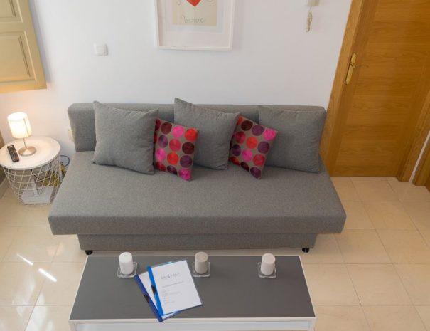 Vista del salón del apartamento MALAMA A1 en el centro de Málaga