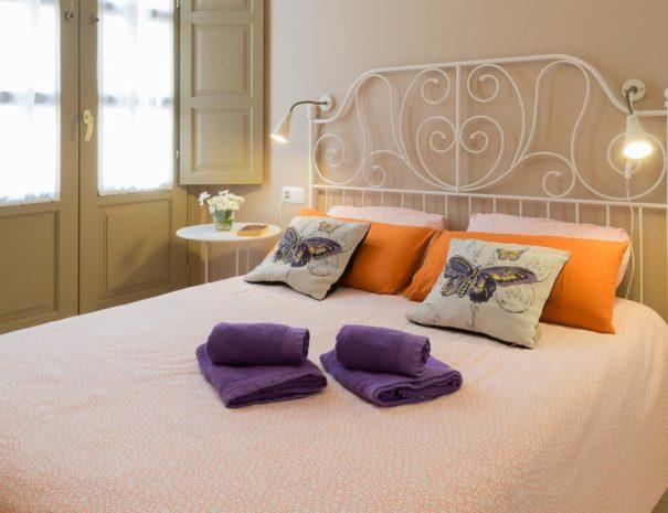 Vista del dormitorio del apartamento MALAMA A1 en el centro de Málaga