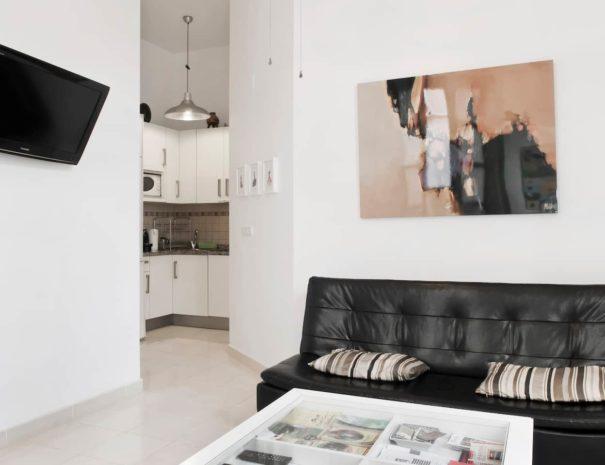 Vista del salón del apartamento MALAMA B3 en el centro de Málaga